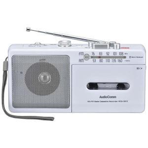 オーム電機 AM/FM モノラルラジオカセットレコーダー RCS-331Z 07-8378