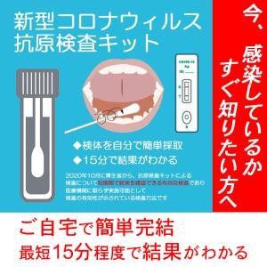 抗原検査キット コロナ 新型コロナウイルス コロナ検査キット 抗原検出キット 1回分 唾液 最短15分テスト可能 ご自宅で簡単 手軽 日本語説明書