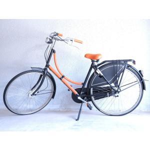 美品 エルメス×バタブス 自転車 7段変速 オレンジ ブラック □O刻印 0351【中古】HERMES|life-time