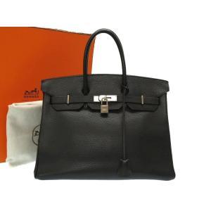 エルメス バーキン35 アルデンヌ ブラック マットシルバー金具 □D刻印 スターマーク ハンドバッグ バッグ 黒 0123 HERMES メンズ