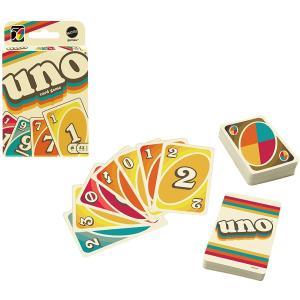 [24時間以内出荷] 玩具 ウノ アイコニック UNO 1970年代版 カードゲーム GXV43 | ウノ誕生50周年記念 限定版 レトロデザイン | 定形郵便 [マテル]|life-with-green