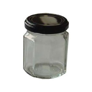 保存瓶 ニッチ125-8角ST(20本売り)【日本製 ガラス ジャム瓶】