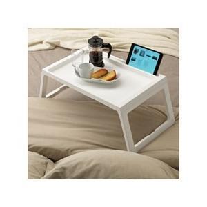 IKEA イケア 送料750円 KLIPSK ベッドトレイ, ホワイト長さ: 56 cm 幅: 36 cm 高さ: 26 cm