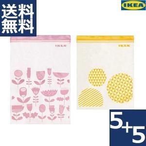 IKEA イケア フリーザーバッグ ストックバッグ ジッパーバッグ イースタード ISTAD ピンク...