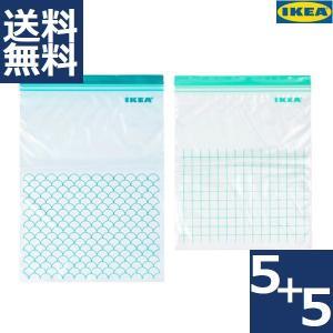 IKEA イケア フリーザーバッグ ストックバッグ ジッパーバッグ イースタード ISTAD ターコ...