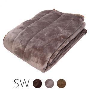 北欧柄 敷きパッド 高密度フランネル素材 アルミ不織布の保温効果 セミダブルの写真
