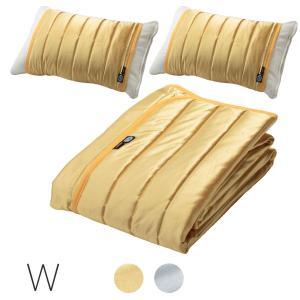 アウトラスト(R)、表地に吸汗速乾加工生地を使用した敷パッドと枕パッド(2枚組)です。 アウトラスト...