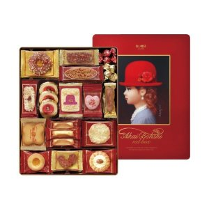●【商品内容】 品名/赤い帽子 赤い帽子 クッキー 缶入り 詰合せ レッド 洋菓子 詰め合わせ ギフ...
