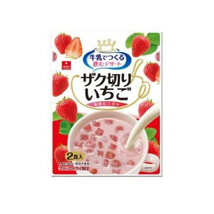 アスザックフーズ フリーズドライ 牛乳で作る 飲むデザート ザク切りいちご 2食入×12袋セット|lifeharmony