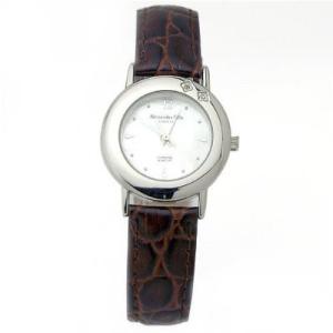 ALESSANDRA OLLA アレサンドラオーラ AO-6900-BR 女性用腕時計 ダイヤ2石 AO-6900 BR レディース|lifeis