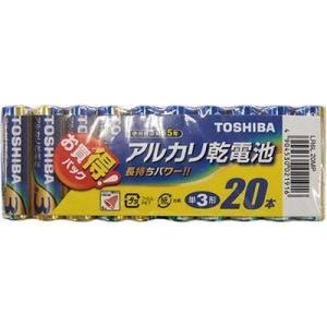 東芝ライフスタイル LR6L_20MP 【10個セット】 東芝 アルカリ単3電池20本パック LR6L20MP|lifeis