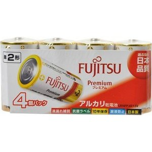 FDK 4976680272104 【5個セット】 アルカリ乾電池 単2形 LR14F Premium/4S 4本入|lifeis