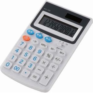 オーム電機 KCL-100-W 電卓 税率切替 HC KCL-100-W (KCL100W)|lifeis