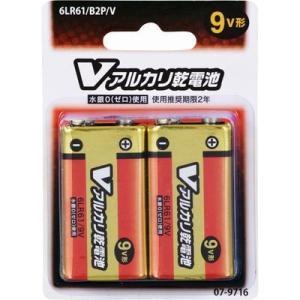 オーム電機 4971275797161 アルカリV電池 9V ブリスター 2本入|lifeis