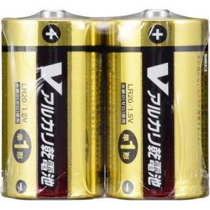 オーム電機 4971275799370 【4個セット】 アルカリV電池 単1 2本入|lifeis
