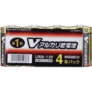 オーム電機 4971275799387 【5個セット】 アルカリV電池 単1 4本入|lifeis