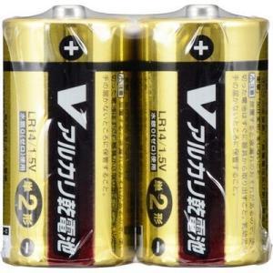 オーム電機 4971275799400 【4個セット】 アルカリV電池 単2 2本入|lifeis