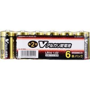 オーム電機 4971275799424 【5個セット】 アルカリV電池 単2 6本入|lifeis