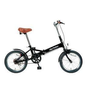 ds-160405 MYPALLAS(マイパラス) 折りたたみ自転車 16インチ M-101BK ブラック (ds160405)|lifeis