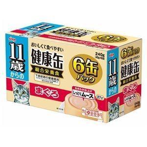 ds-1626786 (まとめ)アイシア 11歳からの健康缶 まぐろ40g×6P 【猫用・フード】【ペット用品】【×12セット】 (ds1626786)|lifeis