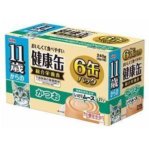 ds-1626787 (まとめ)アイシア 11歳からの健康缶 かつお40g×6P 【猫用・フード】【ペット用品】【×12セット】 (ds1626787)|lifeis