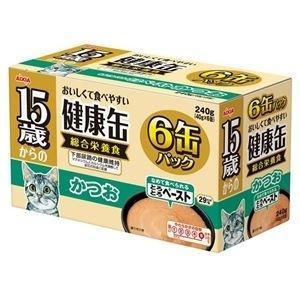 ds-1626790 (まとめ)アイシア 15歳からの健康缶 かつお40g×6P 【猫用・フード】【ペット用品】【×12セット】 (ds1626790)|lifeis