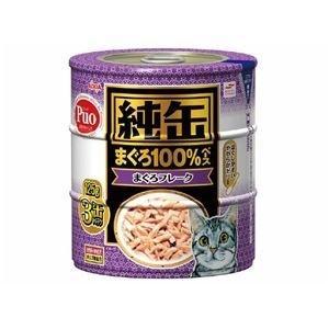 ds-1626792 (まとめ)アイシア 純缶 まぐろフレーク125g×3P 【猫用・フード】【ペット用品】【×18セット】 (ds1626792)|lifeis