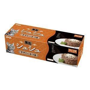 ds-1626800 (まとめ)アイシア 黒缶シュシュ6P ササミ入かつお 60g×6 【猫用・フード】【ペット用品】【×12セット】 (ds1626800)|lifeis