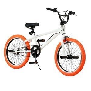 ds-1634462 BMX 20インチ/ホワイト(白)&オレンジ 重さ/14.4kg 【Raychell】 レイチェル BM-20R (ds1634462)|lifeis