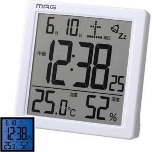 【納期目安:1週間】MAG T-726-WH-Z 電子音デジタル目覚まし時計「カッシーニ」 (T726WHZ) lifeis