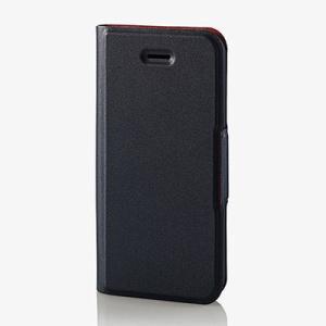 エレコム PM-A18SPLFUBK iPhone5 iPhone5s iPhoneSE ケース カバー 手帳 フラップ レザー マグネット カード (PMA18SPLFUBK)|lifeis