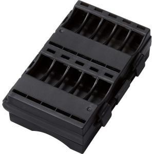 エレコム BC-CELL03BK 電池ケース(単3・単4/両面収納) (BCCELL03BK)|lifeis