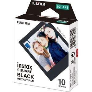 ds-2223742 (まとめ) 富士フイルム インスタントカラーフィルムinstax SQUARE ブラック 1パック(10枚) 【×10セット】 (ds2223742)|lifeis