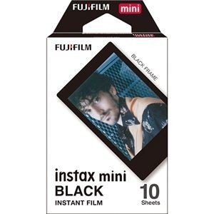 ds-2223744 (まとめ) 富士フイルム チェキ用フィルムinstax mini ブラック 1パック(10枚) 【×10セット】 (ds2223744)|lifeis