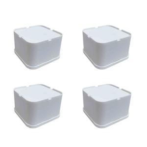 【納期目安:10/26入荷予定】日晴金属 LC-EKD65 洗濯機と防水パンの間にすき間を作る!洗濯機かさ上げ台1セット(4個入り) (LCEKD65)|lifeis
