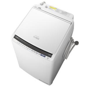 日立 BW-DV80E-W 洗濯8.0kg/乾燥4.5kg 『ビートウォッシュ』 タテ型洗濯乾燥機 (ホワイト) (BWDV80EW)|lifeis