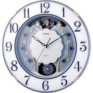 【納期目安:1週間】MAG W-726-BU 電波報時掛時計(ブルー) (W726BU)|lifeis