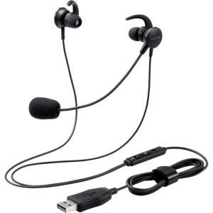 【納期目安:11/11入荷予定】エレコム HS-EP15UBK ヘッドセット 両耳 有線 イヤホン マイクアーム 付 USB 接続 ブラック|lifeis