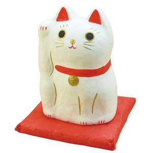【納期目安:1週間】CMLF-1161372 ヤマコー はりこーシカ 招き猫(白) 89597 (CMLF1161372) lifeis
