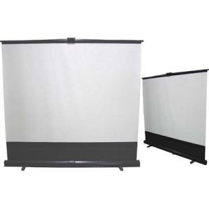 ●床置き立ち上げタイプで、セッティングアームをのばしてスクリーンを引き上げる簡単設置セッティング