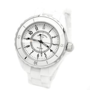 【納期目安:1週間】pierretalamon PT-1600H-WH 腕時計メンズウォッチジュエリーコレクションセラミック(ホワイト) (PT1600HWH) lifeis