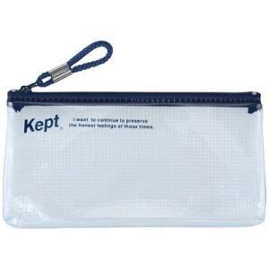 【納期目安:10/上旬入荷予定】レイメイ藤井 KPF502-K 【メール便での発送商品】Kept クリアペンケース(ワイド) (ネイビー) (KPF502K)|lifeis