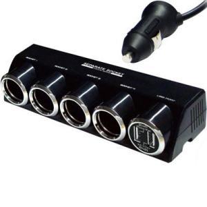 カシムラ KX-187 4連セパレートソケット USB2ポート 4.8A(ブラック) (KX187)|lifeis