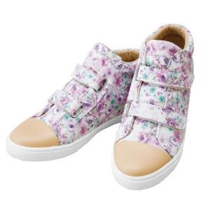 花柄のおでかけもできる園芸用シューズ  レディース スニーカー 軽量 カジュアルシューズ コンフォートシューズ オシャレ 婦人靴|lifemaru