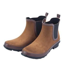 晴雨兼用 天然ゴムのレインシューズ スウェード レディース  レインブーツ カジュアル コンフォート おしゃれ 婦人靴|lifemaru