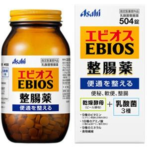 Asahi エビオス整腸効果 504粒 天然素材の乾燥酵母(ビール酵母)と3種の乳酸菌が便通を整える!サプリメント ダイエット 美容 健康飲料 健康サポート knis|lifemaru