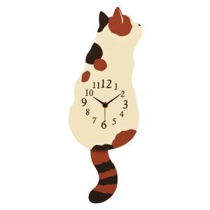 三毛猫振り子時計 壁掛け時計 オフィス おしゃれ バラ 北欧 アメリカン雑貨 かわいい インテリア時計 ギフト G-1189B|lifemaru