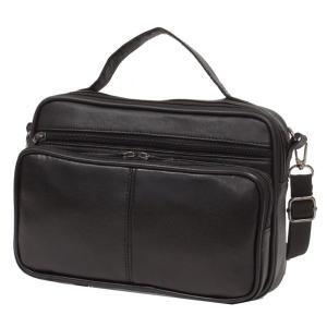 羊皮ヨコ型ショルダーバッグ 本革 メンズ カジュアル bag1103  紳士 コンパクト かこっいい 収納 おしゃれ ikomaks|lifemaru