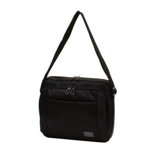 メンズミニショルダーバッグ 横型 黒 撥水・防水加工 bag179 コンパクト 収納 おしゃれ ikomaks|lifemaru