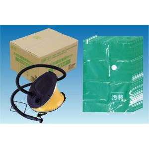 汚物圧縮保管袋セット <空気抜き付> 5MX-6P 簡易トイレ 携帯トイレ  防災セット  緊急災害避難 非常用持出袋 介護 エマージェンシーシート kaneishi|lifemaru